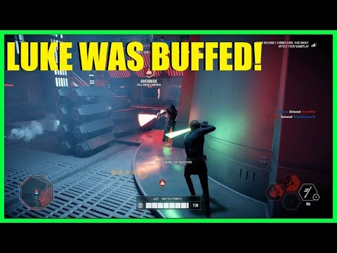 Star Wars Battlefront 2 - Trying the new and improved Luke Skywalker! | Post patch Luke!