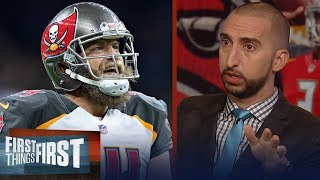 Nick Wright thinks Ryan \'Fitzmagic\' should remain the Bucs starting QB | NFL | FIRST THINGS FIRST