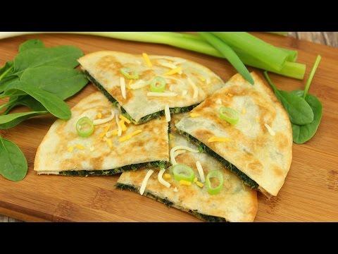 Quesadillas mit Spinat / Spinat Quesadillas selber machen