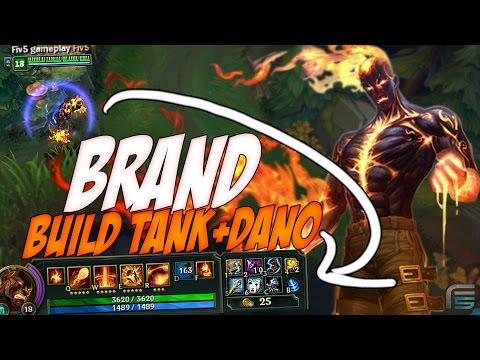 BUILD TANK QUASE IMORTAL DO BRAND MID ! - VIDA + DANO AO MESMO TEMPO - League of Legends - [ PT-BR ]