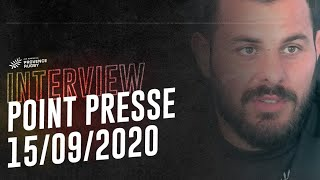 Point presse avant Provence/Nevers (15/09/2020)
