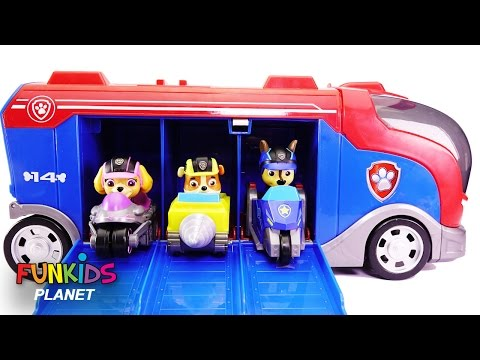 Thumbnail: Learning Videos for Children: Paw Patrol Skye & Chase Mission Cruiser Changes into Superpups