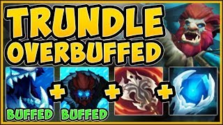 WTF RIOT?? 100% OUTHEAL ALL DMG TAKEN WITH NEW TRUNDLE! TRUNDLE TOP GAMEPLAY! - League of Legends