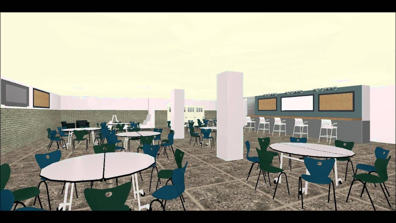 Interior Design: New Trier Small Cafeteria Redesign project - YouTube