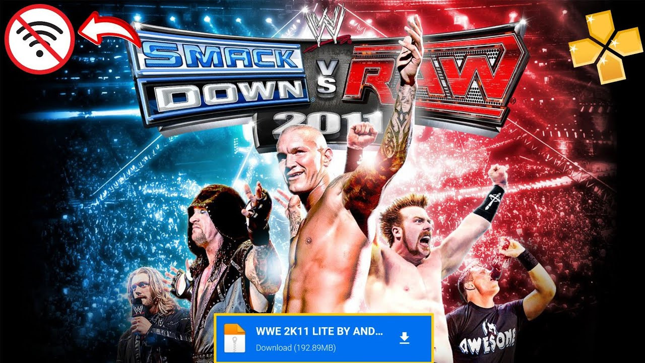 Download Download Game wwe smack downs vs raw 2011 ppsspp Android Offline 192 MB Mediafire