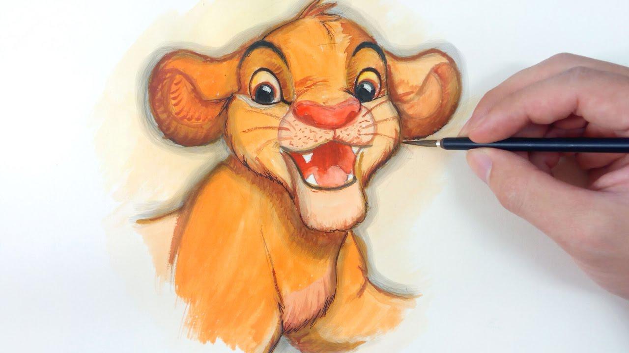 король лев рисунок цветной подобрать наиболее привлекательный