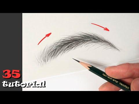 Видеоурок как правильно рисовать брови