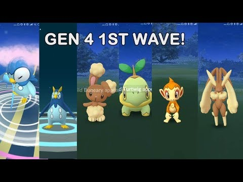 Another Gen 4 1st Wave Release In Pokemon Go Youtube