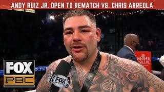Andy Ruiz Jr. open to rematch vs. Chris Arreola: 'We can run it again'   PBC ON FOX! Live Counts