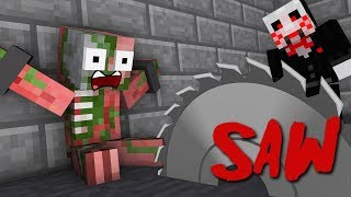 Monster School : The SAW Horror Game Challenge - Minecraft Animation