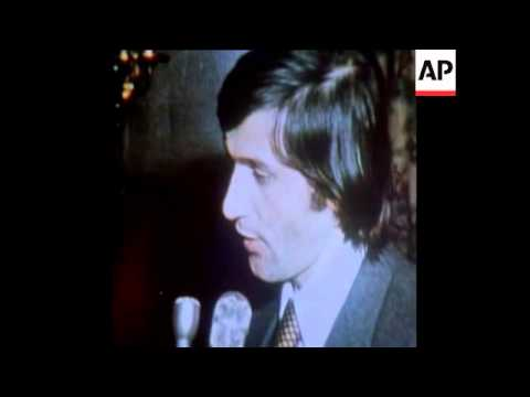 SYND 6-2-74 NASTASE RECEIVES THE TENNIS PLAYER OF THE YEAR AWARD IN NEW YORK