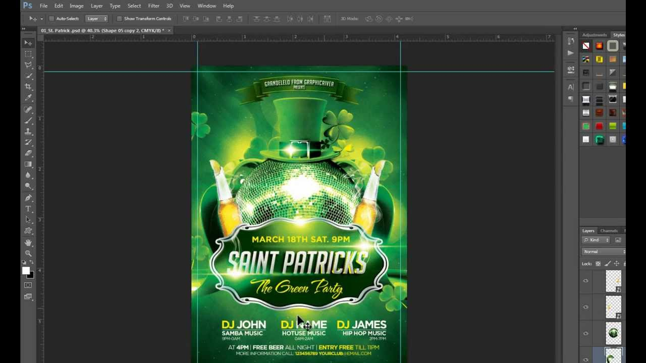St Patricks Flyer Template Psd Download