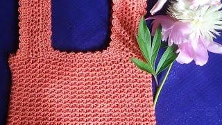 Как связать крючком простой лиф для платья или топа?