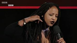 Njambi McGrath on BBC World New Years Comedy 2018