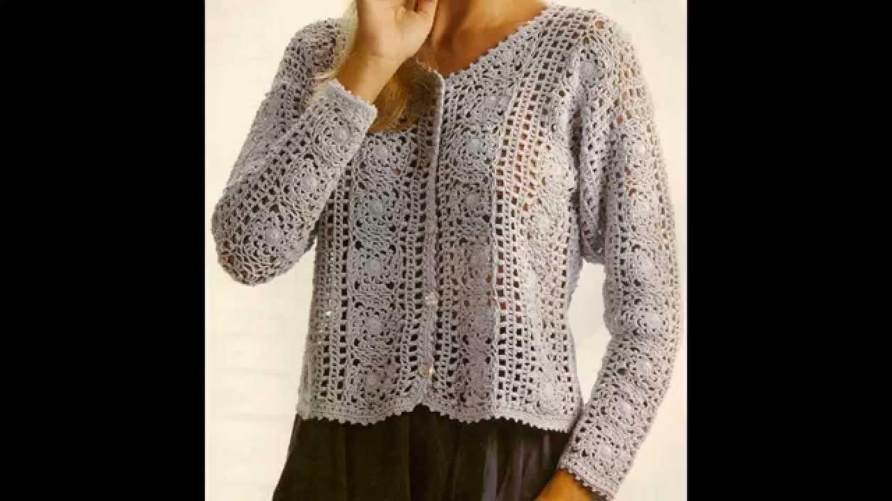 Como hacer saco para dama en crochet