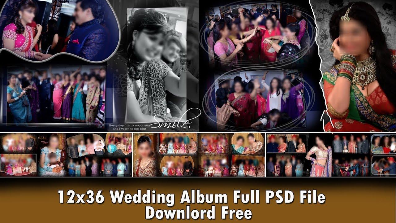 Wedding Inner Sheet Templates Hd 12x36 Psd Files Free