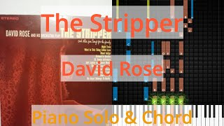 🎹Solo & Chord, The Stripper, David Rose, Synthesia Piano