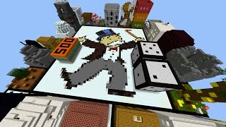 Minecraft LIFESIZE MONOPOLY PARKOUR! with PrestonPlayz & PeteZahHutt