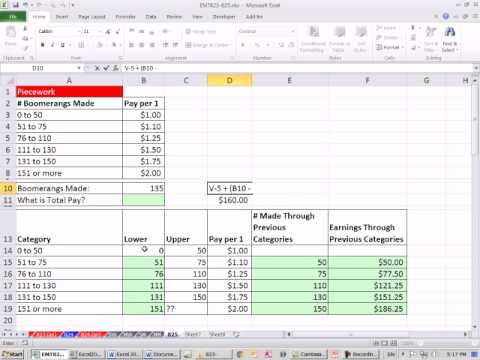 Excel Magic Trick 825: Variable Rate Tables: Commission, Pie