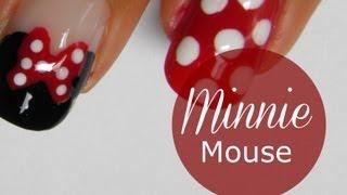 Disney Minnie Mouse nail art tutorial