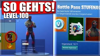 ❌TRICK LEVEL 100❌SCHNELL LEVEL100 Battle Pass Season4 || Fortnite Battle Royale deutsch