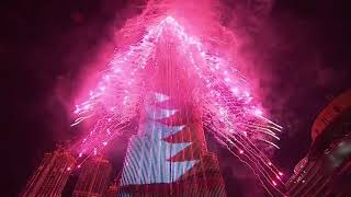 #2020 New Year's 2020 at world's tallest building Dubai puts on stunning fireworks show