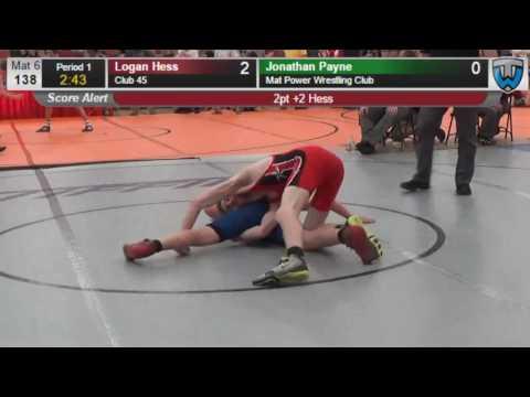 194 Cadet 138 Logan Hess Club 45 vs Jonathan Payne Mat Power Wrestling Club 406877104