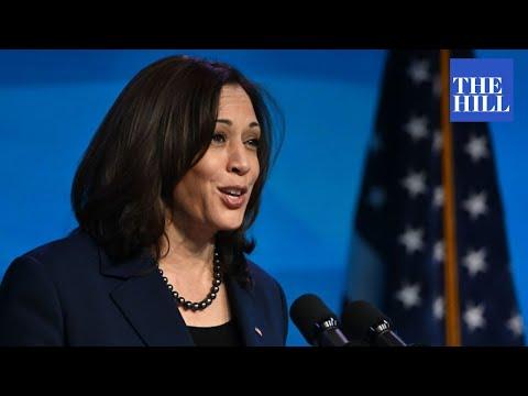 Vice President Kamala Harris THANKS the House Democratic Caucus - The Hill