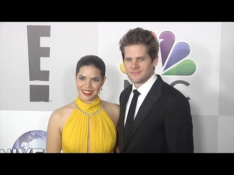 America Ferrera & Ryan Piers Williams NBCUniversal Golden Globes 2016 Afterparty Red Carpet
