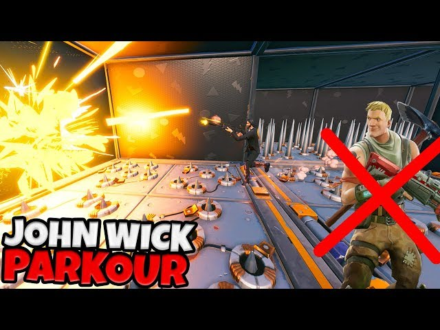 DIT JOHN WICK PARKOUR IS NIET VOOR NOOBS! - Fortnite Creative