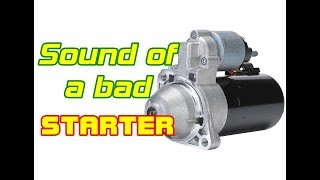 ⭐ How Does A Starter Going Bad Sound? - Sounds Of A Bad Starter
