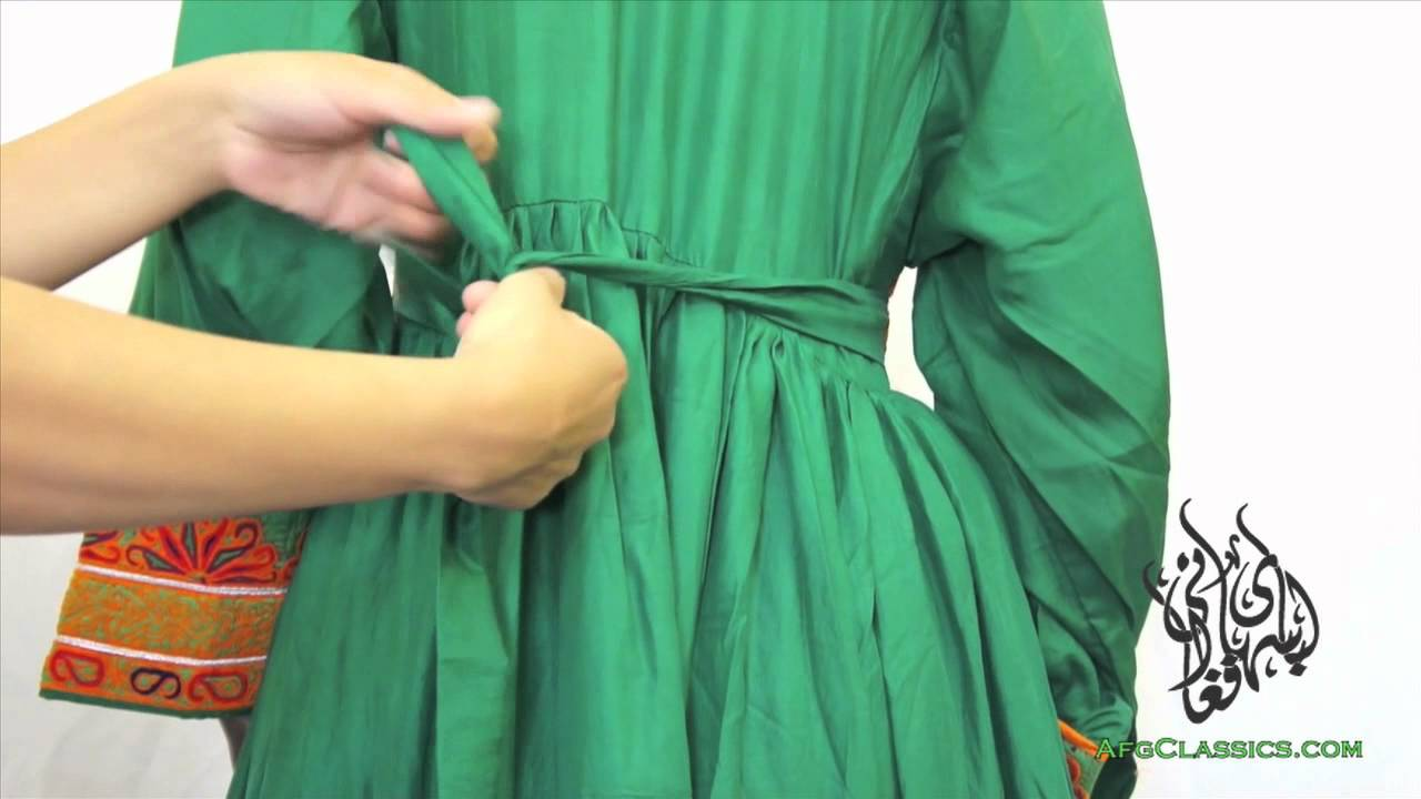 Afghan Dress One Size fits All - YouTube