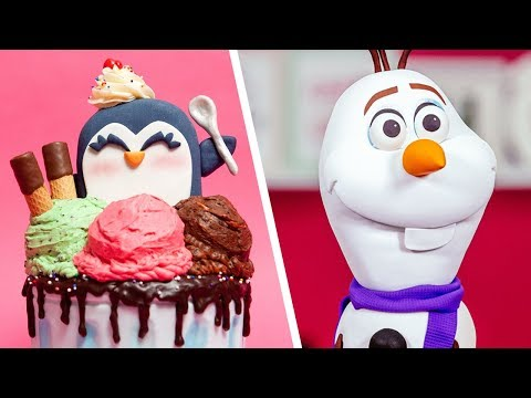 Disney Frozen 2 Olaf & MORE Holiday Cakes | How To Cake It Step By Step