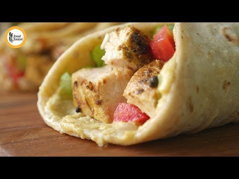 Chicken Hummus Wraps Recipe By Food Fusion