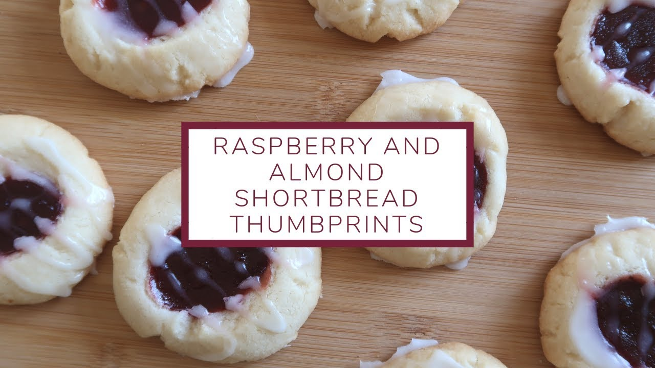 Raspberry And Almond Shortbread Thumbprint Cookies Christmas Cookie Week Day 6