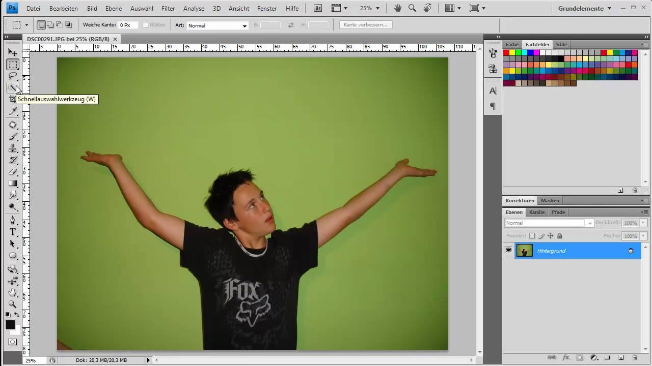 photoshop greenscreen ersetzen youtube. Black Bedroom Furniture Sets. Home Design Ideas