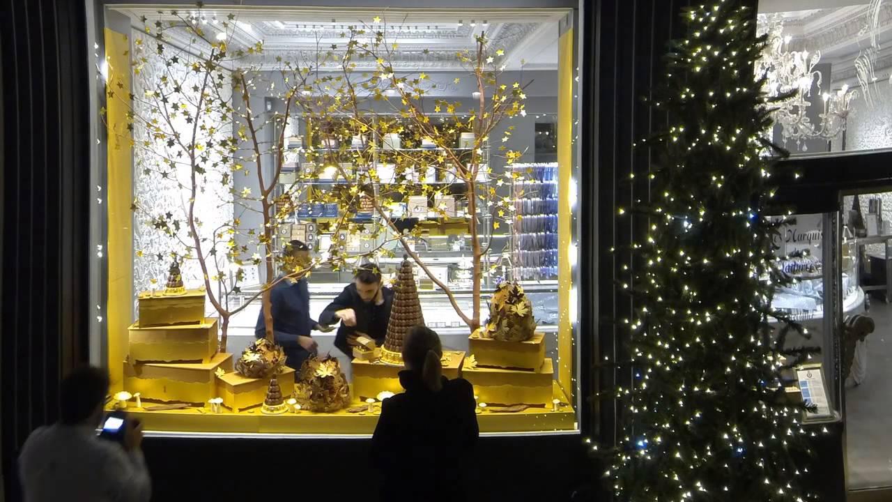 Le making of les marquis de ladur e christmas window for Laduree christmas