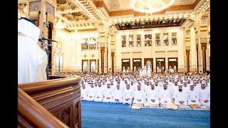 محمد بن راشد يؤدي صلاة عيد الفطر في مسجد زعبيل