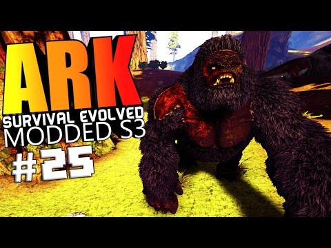 ARK Survival Evolved - NEW ISLAND, BOKITO WARDEN FIGHT, ALLOSAURUS Modded #25 (ARK Mods Gameplay)