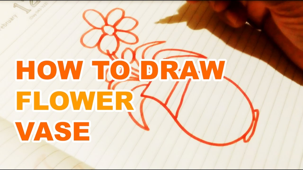 How To Draw Flower Vase Step By Step Very Easy Drawing Drawing