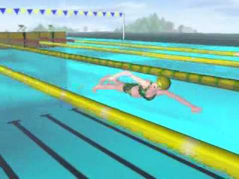 FreeStyle 2beats swimming 3D animation・1