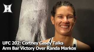 UFC 202: Cortney Casey Talks Arm Bar Victory Over Randa Markos