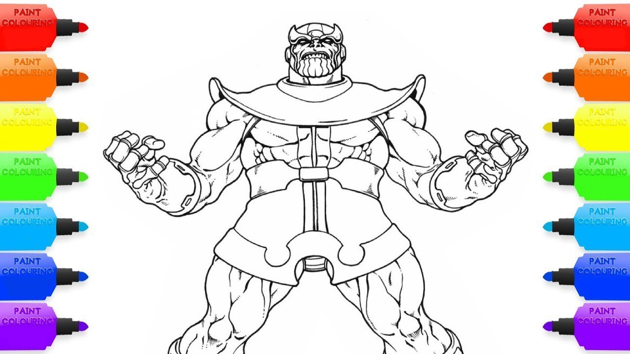 Superhero Thanos Coloring Pages: ⚔️ AVENGERS INFINITY WAR 2018 AVENGERS DRAWING & COLORING