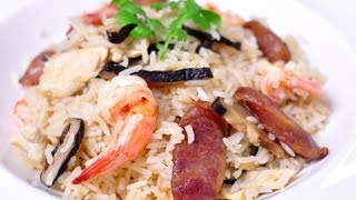 [thai Food] Baked Rice With Chinese Sausage (khao Aob Goon Chiang)