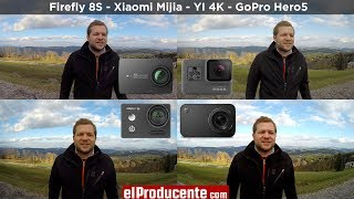 Xiaomi Mijia - YI 4K - Firefly 8S - GoPro Hero5 - Comparison Review