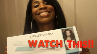 FUNNY VIDEO! Lisa Raye Red Pro Diamond Infused Ceramic Flatiron Contest Video!! Thumbnail