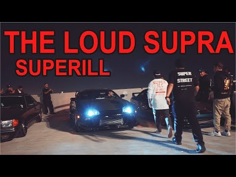 The Crazy Loud Supra Exhaust at SuperiLL Los Angeles