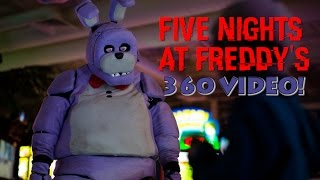 Five Night's At Freddy's in Real Life! 360 VIDEO - SCARY!(This is a 360 VIDEO! Make sure to watch in the highest resolution possible. Watch on a smart phone, a VR headset, or Google Chrome web browser with ..., 2015-10-29T07:52:30.000Z)