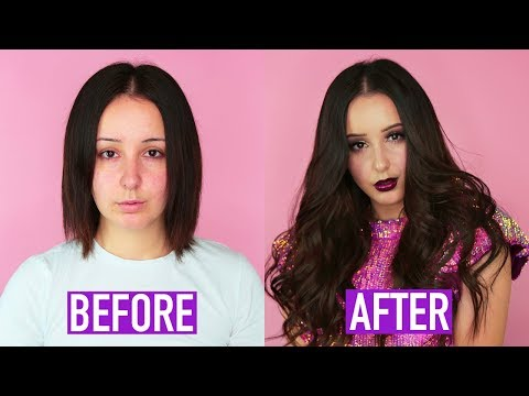 How To: Tape-In Hair Extensions! *Holiday Glam* | by tashaleelyn