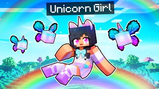 Playing Minecraft As My UNICORN GIRL!
